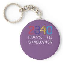 Kindergarten days to graduation keychain