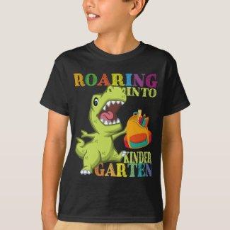 Kindergarten Dinosaur T Rex Back to School T-Shirt