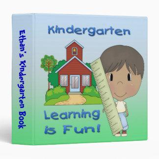 "Kindergarten Ethnic Boy Learning is Fun 1.5"" Binde 3 Ring Binders"