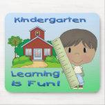 Kindergarten Ethnic Boy Learning is Fun Mouse Pad