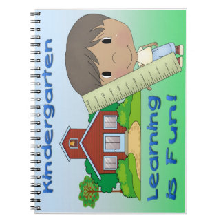 Kindergarten Ethnic Boy Learning is Fun Spiral Notebook