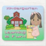 Kindergarten Ethnic Girl Learning is Fun Mouse Pad