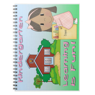 Kindergarten Ethnic Girl Learning is Fun Note Book