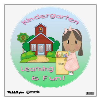 Kindergarten Ethnic Girl Learning is Fun Room Graphic