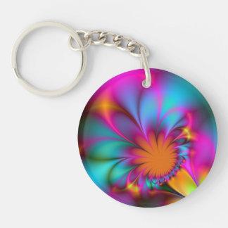 Kindergarten flower Single-Sided round acrylic keychain