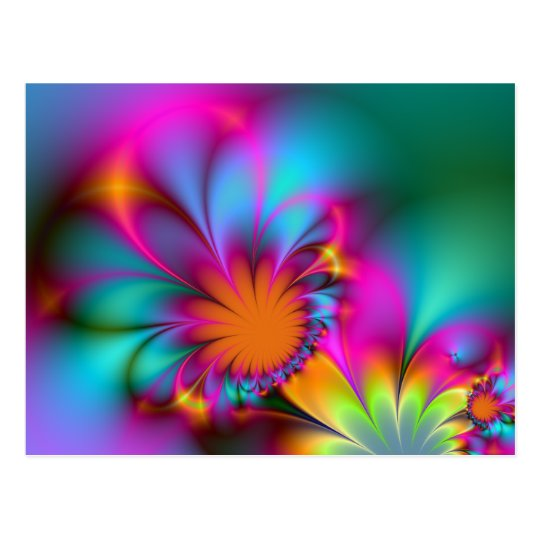 Kindergarten flower postcard
