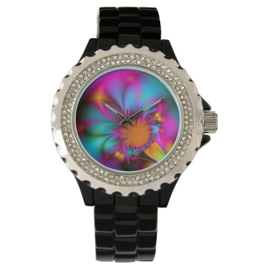 Kindergarten flower wristwatch