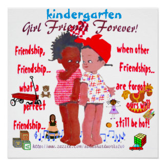 """Kindergarten Friends"" Poster"