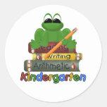 Kindergarten Frog Classic Round Sticker