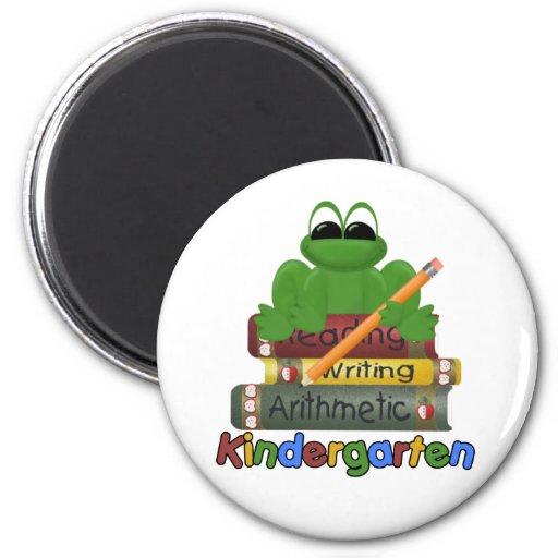 Kindergarten Frog Refrigerator Magnets