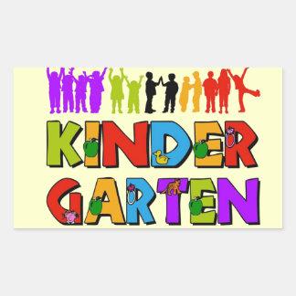 Kindergarten Fun Rectangular Sticker