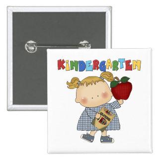 Kindergarten Girl Button