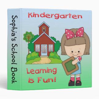 Kindergarten Girl Learning is Fun 1 5 Binder