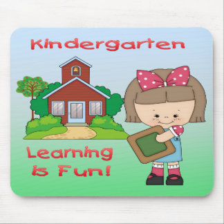 Kindergarten Girl Learning is Fun Mouse Pad