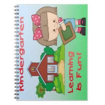 Kindergarten Girl Learning is Fun Spiral Notebook