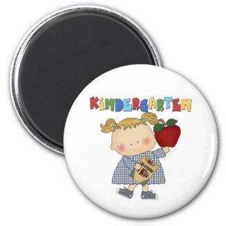 Kindergarten Girl 2 Inch Round Magnet