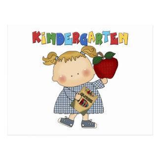 Kindergarten Girl Postcard