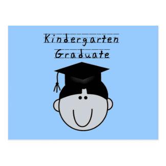 Kindergarten Graduate - Black Hair Boy Postcard