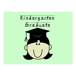 Kindergarten Graduate - Black Hair Girl Tshirts Postcard