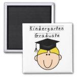 Kindergarten Graduate - Blond Boy 2 Inch Square Magnet
