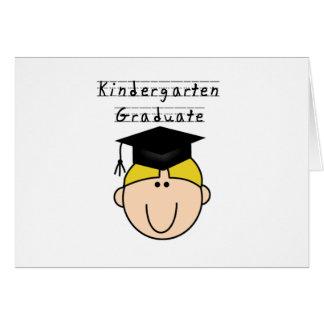 Kindergarten Graduate - Blond Boy Greeting Card