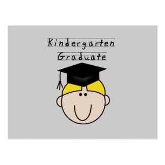 Kindergarten Graduate - Blond Boy Postcard