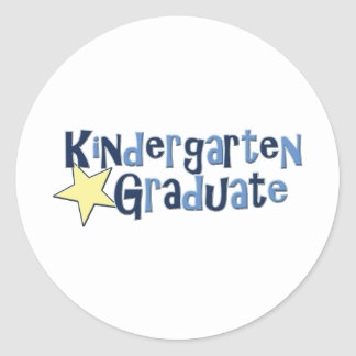 Kindergarten Graduate Classic Round Sticker