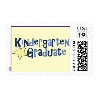 Kindergarten Graduate Postage Stamp