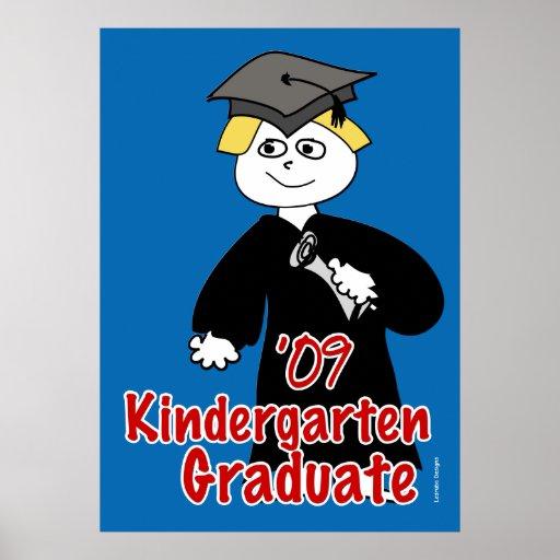 Kindergarten Graduate Poster for Boys