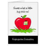 Kindergarten Graduate Red Apple Congratulations Greeting Card