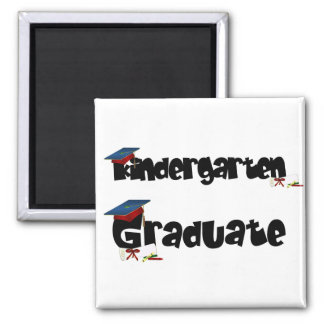 Kindergarten Graduate Tshirts and Gifts 2 Inch Square Magnet