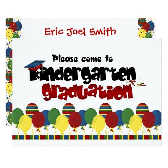 kindergarten graduation announcement invitation zazzle com