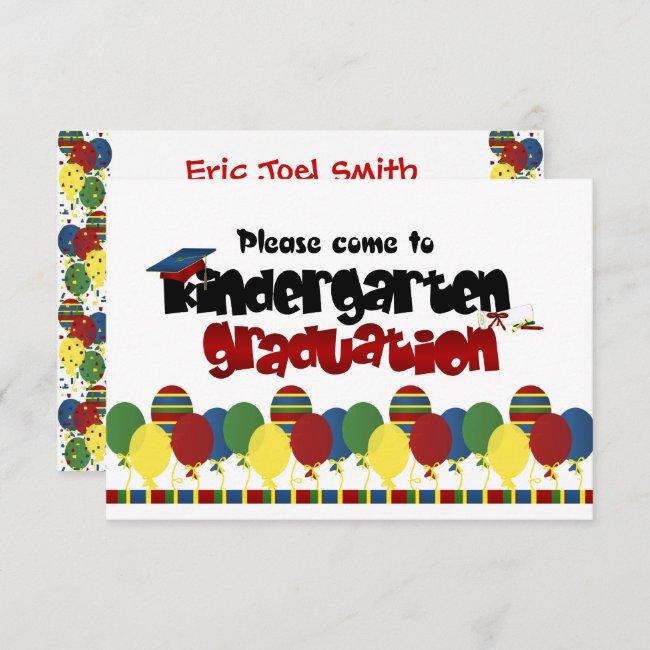 Kindergarten Graduation Announcement Invitation