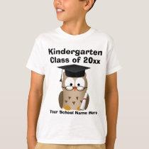 Kindergarten Graduation Custom Wise Owl Kids T-Shirt