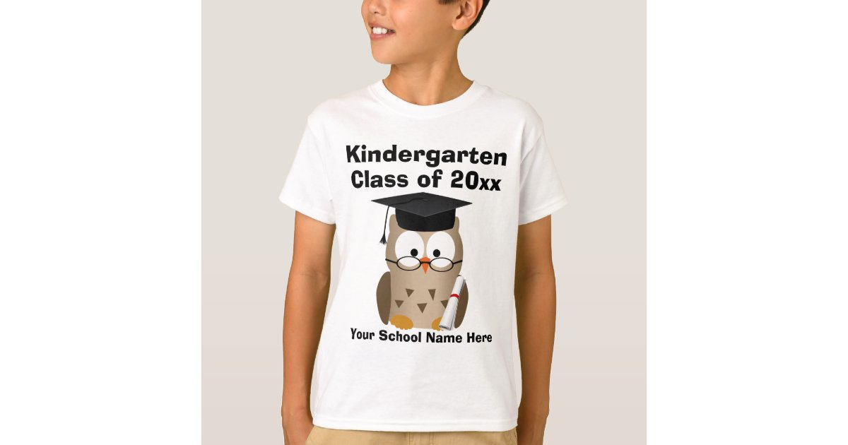 Kindergarten Graduation Custom Wise Owl Kids T Shirt