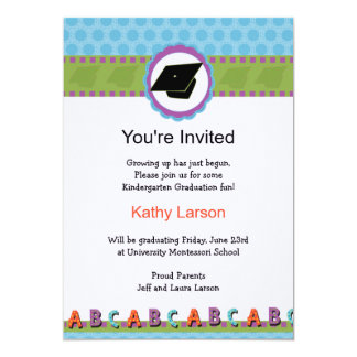 kindergarten graduation invitation - Invitation For Graduation
