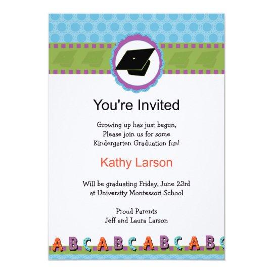 Kindergarten Graduation Invitation Zazzlecom