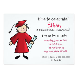 Pre Kindergarten Graduation Invitations Announcements Zazzle