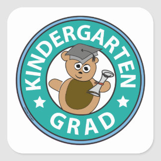 Kindergarten Graduation Square Sticker