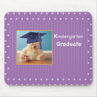 Kindergarten Graduation Teddy Bear on Purple Mouse Pad