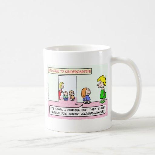Kindergarten is all about compliance mug