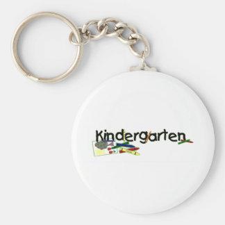 Kindergarten Basic Round Button Keychain