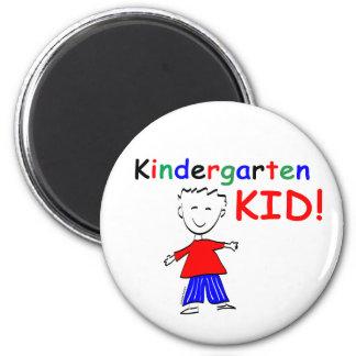 Kindergarten Kid Boys 2 Inch Round Magnet