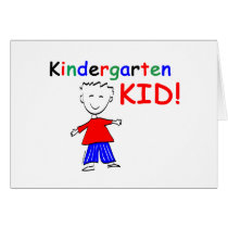Kindergarten Kid Boys Card