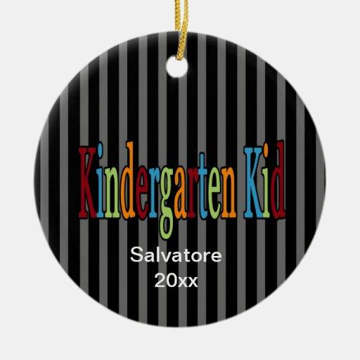 Kindergarten Kid Christmas Ornament