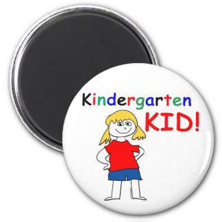 Kindergarten Kid Girls 2 Inch Round Magnet