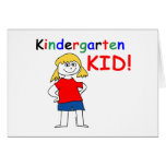 Kindergarten Kid Girls Card