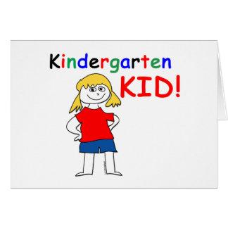 Kindergarten Kid Girls Card