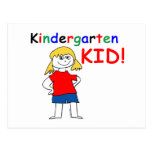 Kindergarten Kid Girls Post Card