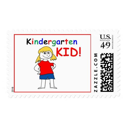 Kindergarten Kid Girls Stamp